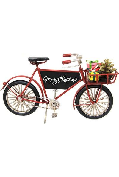 MNK Dekoratif Yılbaşı Sepetli Metal Bisiklet