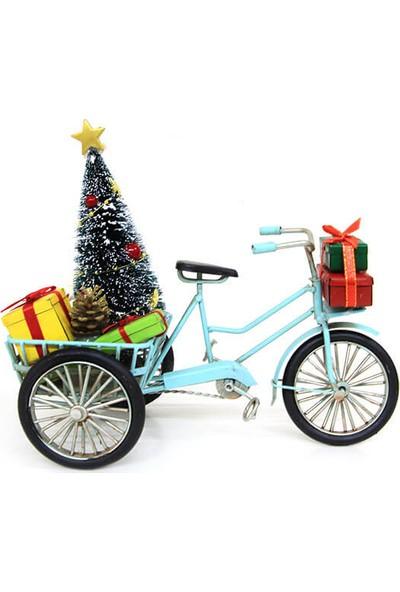 MNK Dekoratif Metal Yılbaşı Bisikleti