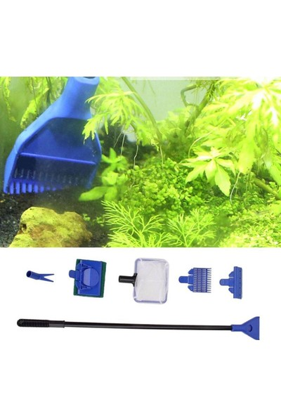 Buffer 5 In 1 Akvaryum Tankı Temizleme Seti Akvaryum Balığı Bakım Seti