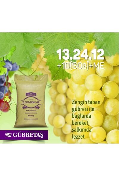 Gübretaş 13 24 12+10 So3 Me Azot Üre Fosfor Potasyum Kükürt Çinko Demir Tüm Bitkiler Için Gübre 50 kg