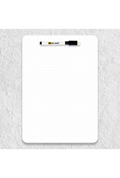 Wallmage Easyboard Noktalı Kararmaz Yazı Tahtası- A4 21 x 29.7 cm