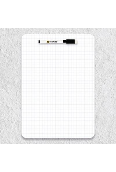 Wallmage Easyboard Kareli Kararmaz Yazı Tahtası - A4 21 x 29.7 cm
