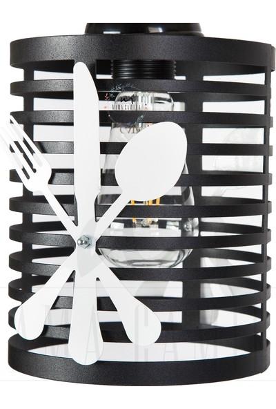 Modernica Çatal Kaşık Figürlü Avize