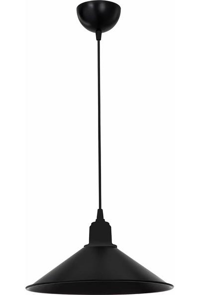 Modelight Büyük Maya Tekli Sarkıt Siyah
