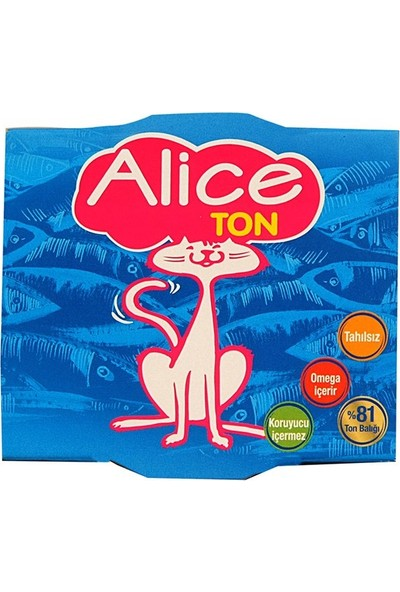 Alice Ton Konserve Yaş Kedi Maması 185 gr - 3 Adet