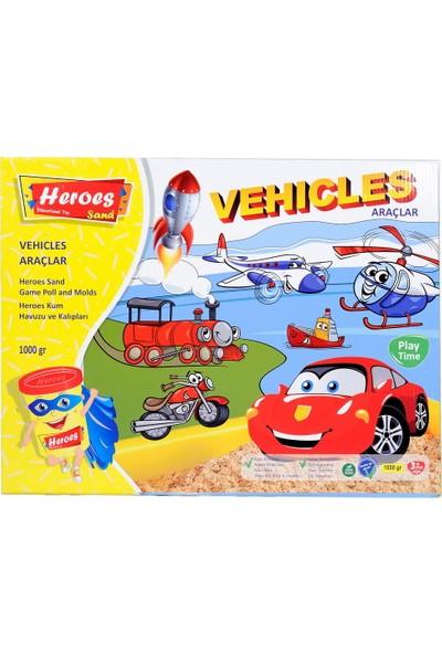 Heroes KUM-014 Heroes Büyük Kum Havuzu Araç Kalıpları 1000 gr Kumlu Set
