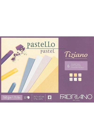 Fabriano Tiziano Pastel Çizim ve Baskı Defteri Soft Colour 6 Karma Renk 160 gr 30 Sayfa A3