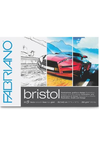 Fabriano Bristol Marker Çizim Defteri Blok 250 gr 40 Yaprak A3