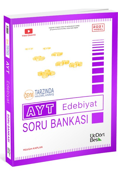 Üç Dört Beş Yayıncılık AYT Edebiyat Soru Bankası