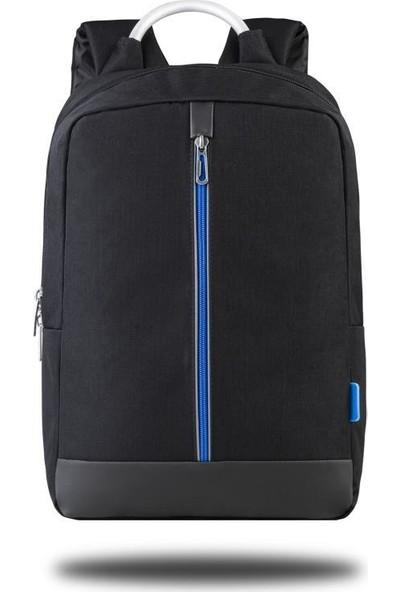 "Classone Genoa PR R400M 15.6"" Notebook Sırt Çantası - Siyah Mavi Astar"