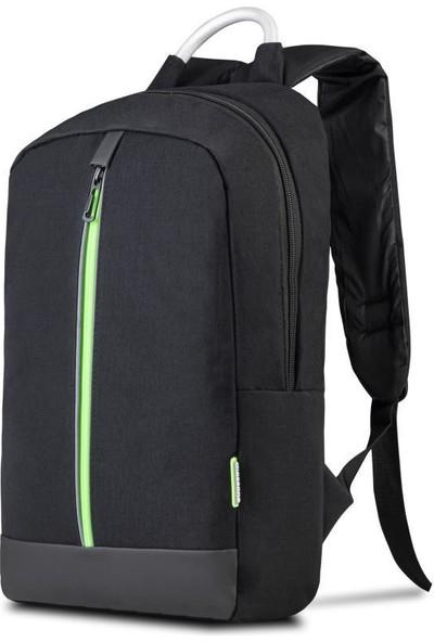 """Classone GenoaPR R400Y 15.6"""" Notebook Sırt Çantası - Siyah Yeşil Astar"""