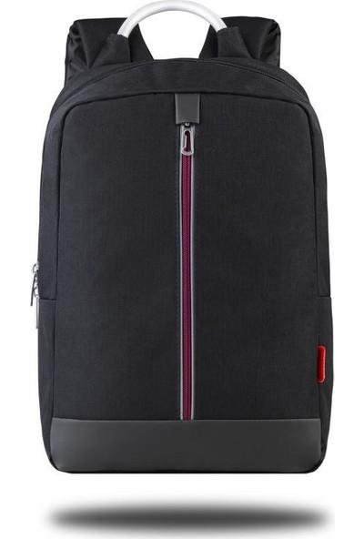 "Classone GenoaPR R400B 15.6"" Notebook Sırt Çantası - Siyah Bordo Astar"