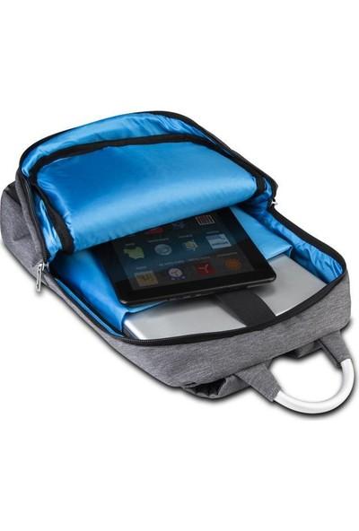 """Classone GenoaPR R404M 15.6"""" Laptop Notebook Sırt Çantası - Gri Mavi Astar"""