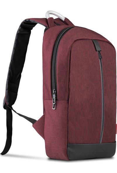 """Classone Genoa PR R405 15.6"""" Laptop Notebook Sırt Çantası - Bordo"""