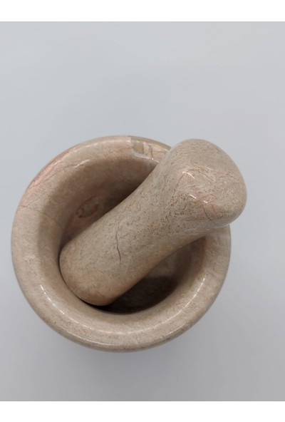 Pergamon Bej Mermer Havan