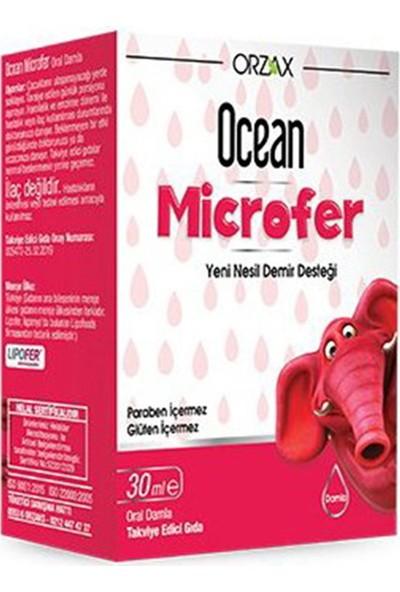 Orzax Ocean Microfer Takviye Edici Gıda 30 ml SKT:04/2022