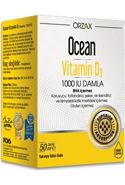 Ocean Vitamin D3 1000 Iu Damla SKT:04/2022