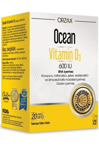 Orzax Ocean Vitamin D3 600 Iu Sprey 20ml SKT:05/2022