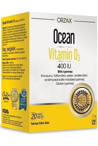 Ocean Vitamin D3 400 Iu Sprey 20ml SKT:2022