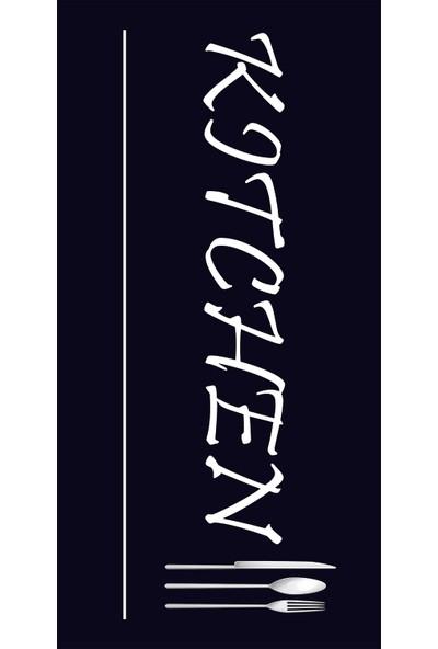 Apree Home Kitchen Siyah, Kaymaz Dod Tabanlı, Makinada Yıkanabilir Mutfak Halısı 60 x 100 cm