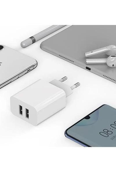 Mcdodo CH-6620 12W 2.4A Çift USB Şarj Adaptörü - Beyaz