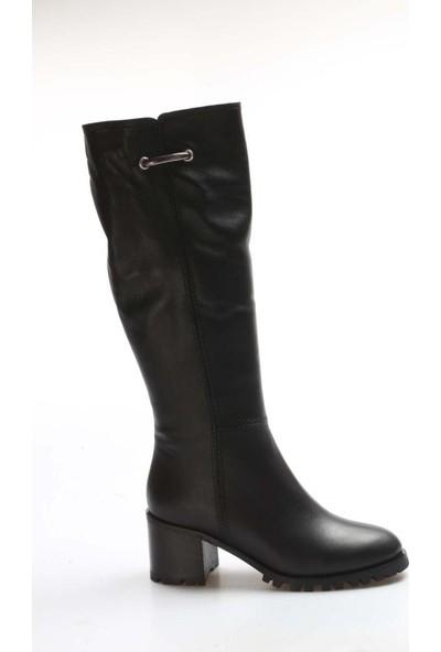 Fast Step Deri Kürklü Kadın Klasik Çizme 064YZA611