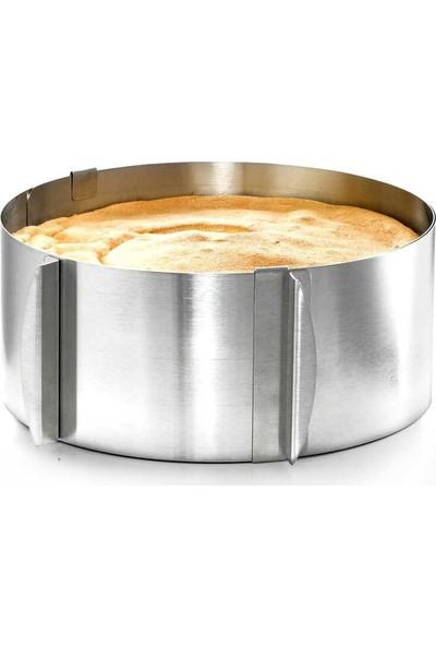 Narkalıp Yuvarlak Kare Ayarlanabilir Kek Kaıbı 2'li Set Derinlik 10 cm
