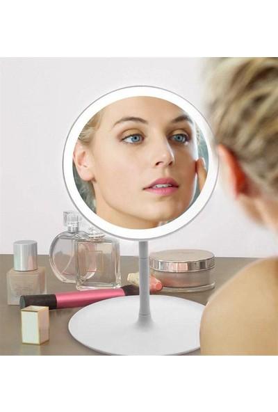 Evim Tatlı Evim Dokunmatik Ayarlanabilir LED Işıklı Makyaj Aynası Beyaz