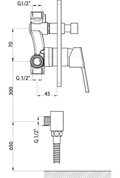 Gpd Ritmo Ankastre Kabin Bataryası MKB85