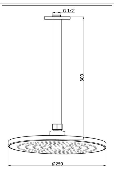Gpd Ankastre Duş Seti (Tavandan Q250) ADS16