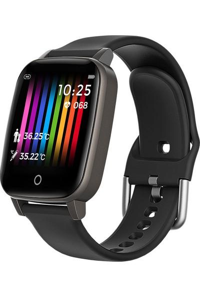 Crelander Yeni T1 Renkli Ekran Vücut Sıcaklığı Akıllı Bilezik (Yurt Dışından)