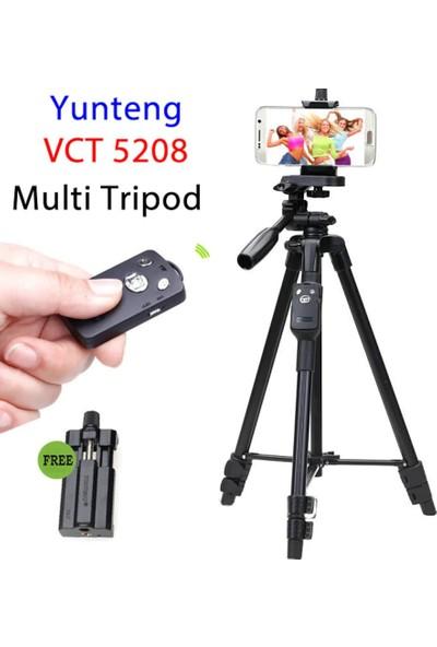 Yunteng VCT-5208 Bluetooth Kumandalı Telefon Destekli Tripod