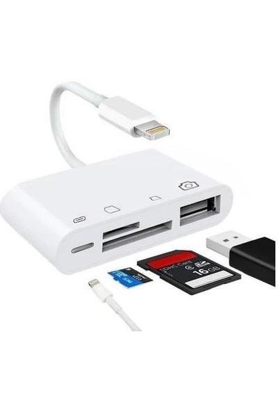 Mobitell Lightning To 4 In 1 Kamera Mikro Sd Tf Çevirici Adaptör