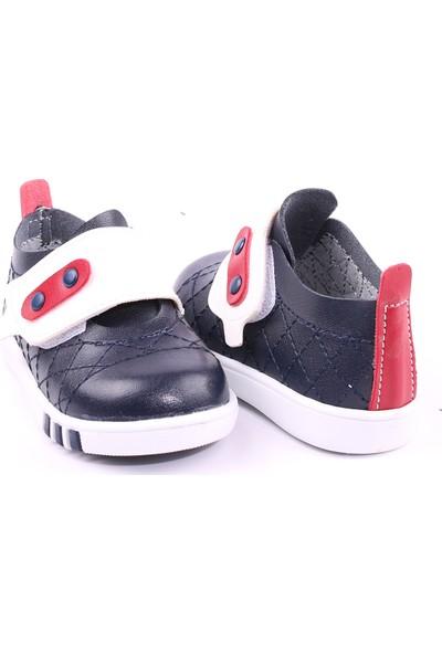 Akıllı Şirin İlk Adım Erkek Çocuk Mevsimlik Ayakkabı Lacivert Beyaz