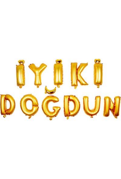 Kına Dükkanı iyiki Doğdun 30' Folyo Balon Gold