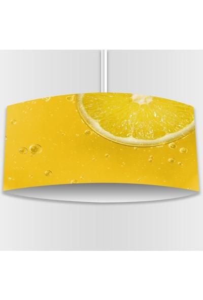 Alca Home Sarı Limon Desenli Modern Mutfak Sarkıt Avize