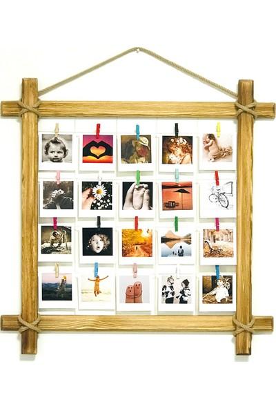 Tienda Ahşap Dekoratif Rustik Anı Fotoğraf Çerçevesi