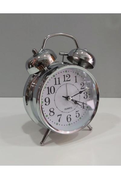 Evim Tatlı Evim Nostaljik Metal Çalar Saat Alarmlı ve Işıklı