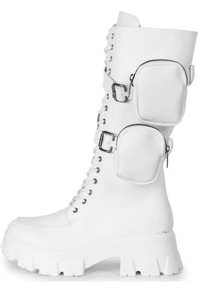 Eşle 20K Sywia Kadın Günlük Çizme Beyaz