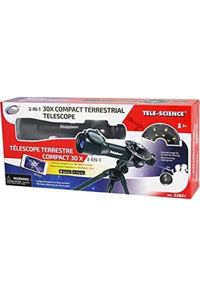 Sunman Tele-Science 3'ü 1 Arada 30MM Kompakt Karasal Teleskop 23801