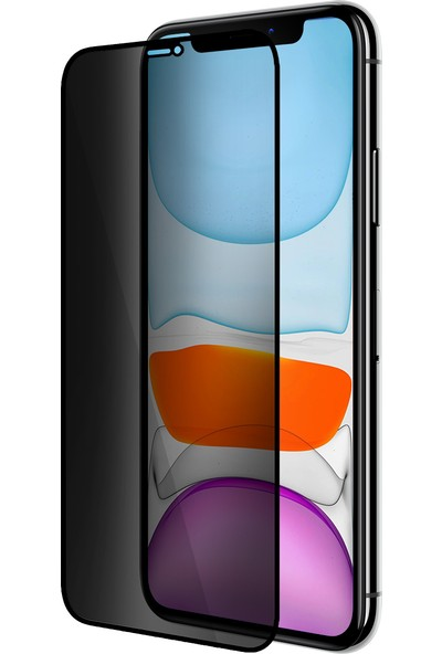 Buff Apple iPhone 11 / Xr 5d Privacy Ekran Koruyucu