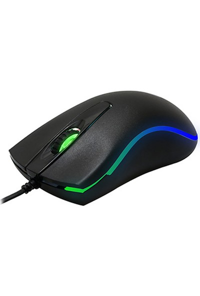 Everest SM-M9 USB Kablolu Siyah 3D Optik LED Mouse