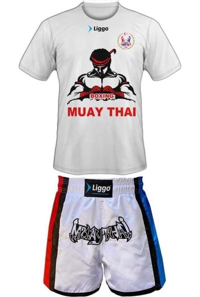 Liggo Kickboks Muaythai Seti Muaythai Tişörtü Muay Thai Şortu