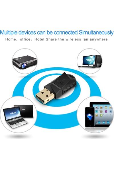 Schulzz Rocketek 600MBPS 2.4G 5GHz Dual Band Kablosuz USB Wifi Adaptörü