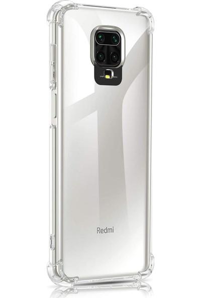Case 4U Xiaomi Redmi Note 9S / Note 9 Pro Kılıf Darbe Emici Silikon Arka Kapak Şeffaf