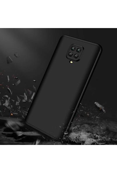 Case 4U Xiaomi Redmi Note 9S / 9 Pro Kılıf 360 Derece Korumalı Tam Kapatan Koruyucu Sert Silikon Ays Arka Kapak Siyah