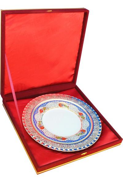 Antalya Dünya Bayrak Hediyelik Plaket Porselen Tabak Gümüş Çerçeve