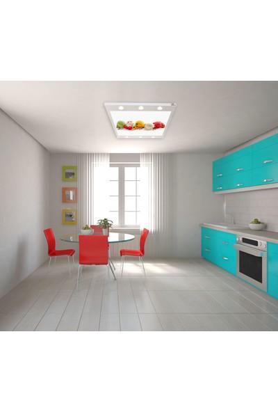 Hayal Penceresi Meyveli Dondurma Gergi Avize 140 x 100 cm Hazır Gergi Tavan