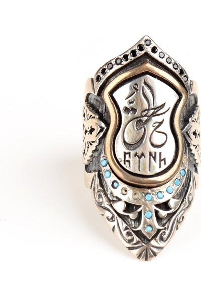 Attach Türk Temalı Gümüş Zihgir Yüzük