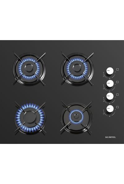 Kumtel Home Siyah Cam Ankastre Set ( DA6-830 Siyah Davlumbaz + KO-40TAHDF Ankastre Siyah Ocak+ B66-S2 (3 Pro 2 Düğme) Siyah Cam Fırın)